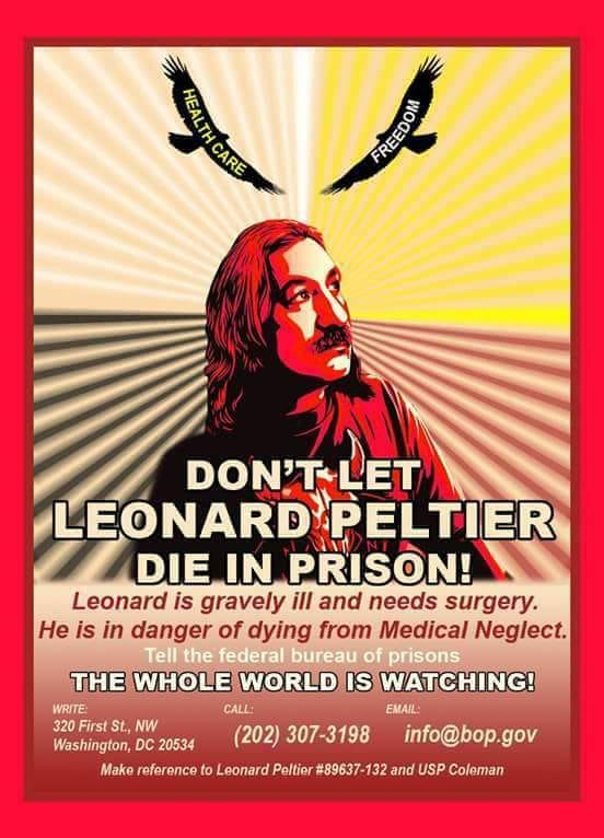 Leonard Peltier, Schließung der Senioren- und Pflegeabteilung und was wir dagegen tuen können/Leonard Peltier, the Closing of the elder and medical care unit and what we can do against this